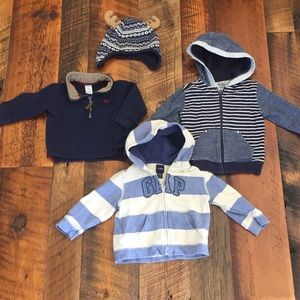 Toddler Boy Sweatshirts l, Pullover, & winter hat
